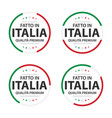 set four italian icons italian title vector image vector image