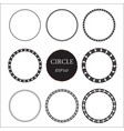 set of hand drawn circles design elements vector image