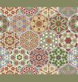 set of hexagonal patterns vector image