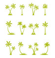 set silhouettes palm trees vector image