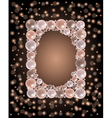 Shiny pearls frame vector image