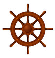 ship wheel marine wooden vector image vector image