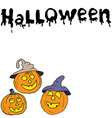 Sketch of halloween pumpkin Doodles set with vector image vector image