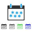 snow calendar day flat icon vector image vector image