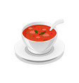 soup delicious tasty symbol vector image