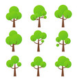 tree icon nature green forest plants vector image vector image