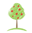 tree sketch vector image vector image