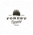 vintage wilderness logo hand drawn retro styled vector image vector image