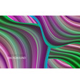 wave acrylic color background art design for your vector image vector image