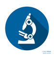white microscope flat icon science symbol vector image