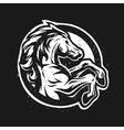 Wild horse logo symbol vector image vector image