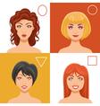 Women Faces Set vector image vector image