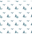yacht seamless pattern vector image