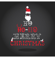 Christmas Typography Retro Card vector image