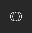 Letter O logo modern monogram symbol black and vector image