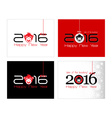 2016 New Year card or background with monkey Happy vector image vector image