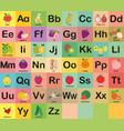 a-z fruit alphabet set for kids vector image vector image