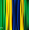 Abstract Background stripe pattern in Brazil flag vector image vector image