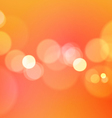 Abstract Bokeh Lights on Orange Background vector image vector image