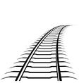 Abstract railway line vector image vector image