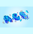 ace isometric cloud system vector image vector image