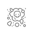 air pollution industrial smog line icon vector image