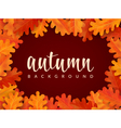 Autumn background with oak leaves and lettering