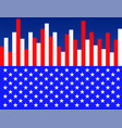 background flag usa as equalizer vector image vector image