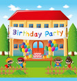 birthday party at home vector image