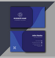 blue minimal and professional business card vector image vector image