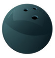 bowling ball drawing vector image vector image