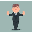 Calm Down Peace Businessman Pacify Emotion vector image vector image