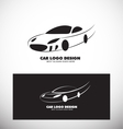 Car logo design black white vector image
