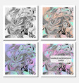 cards design template with abstract marbling vector image vector image