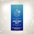 christmas card with snow flakes balls vector image