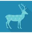 christmas deer in scandinavian vector image