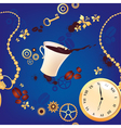 Coffee and watches vector image vector image