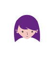 colorful avatar girl head with hairstyle design vector image vector image