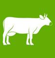 cow icon green vector image vector image