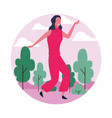 dancing woman avatar vector image vector image