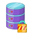 Data storage security icon cartoon style vector image vector image