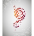 Design element as tattoo shape vector image vector image