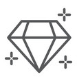 diamond line icon jewellery and accessory vector image