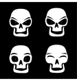 different skull emotions vector image vector image
