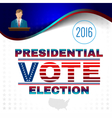 Digital usa election with candidate
