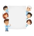 Doctors Presenting Empty Vertical Banner vector image vector image