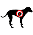 dog prohibition sign for ticks vector image vector image