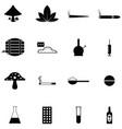 drug icon set vector image vector image