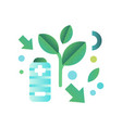 eco friendly battery ecology concept eco vector image