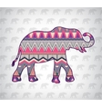 elephant silhouette with abstract pattern vector image vector image
